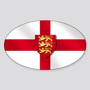 England Three Lions Flag Sticker (Oval)