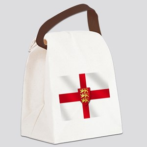 England 3 Lions Flag Canvas Lunch Bag