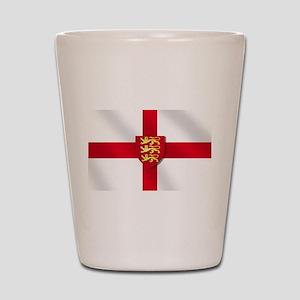England Three Lions Flag Shot Glass
