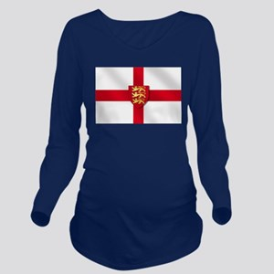 England 3 Lions Flag Long Sleeve Maternity T-Shirt