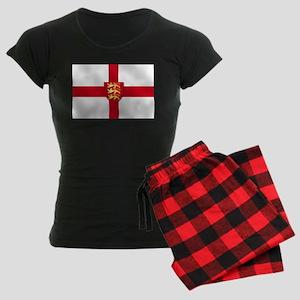 England Three Lions Flag Women's Dark Pajamas