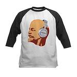 Lenin wearing heaphones Kids Baseball Jersey