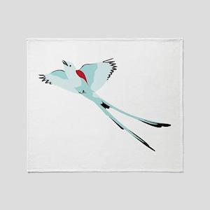 Scissortail Bird Throw Blanket
