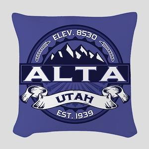 Alta Midnight Woven Throw Pillow