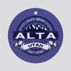 Alta Midnight Ornament (Round)