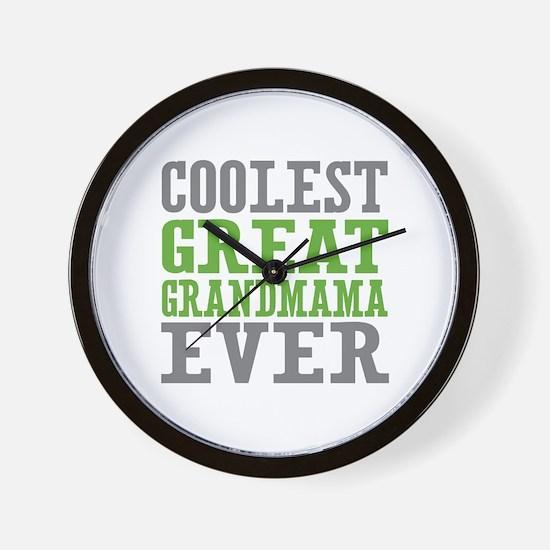 Coolest Great Grandmama Ever Wall Clock