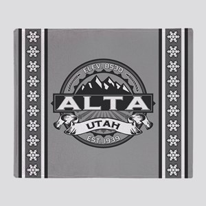Alta Silver Throw Blanket