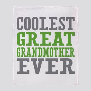 Coolest Great Grandmother Ever Throw Blanket