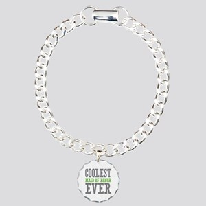 Coolest Maid of Honor Ever Charm Bracelet, One Cha