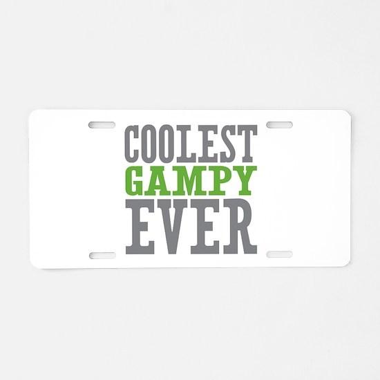 Coolest Gampy Ever Aluminum License Plate