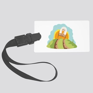 Covered Wagon Luggage Tag
