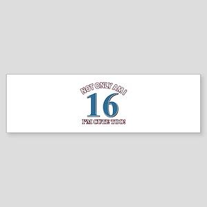 Cute 16 year old designs Sticker (Bumper)