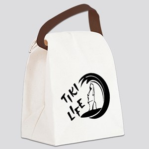 Black Tiki Life Logo Canvas Lunch Bag