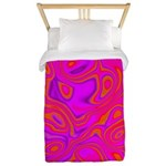 Pink Psychedelic Oil Pattern Twin Duvet