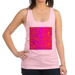 Pink Psychedelic Oil Pattern Racerback Tank Top