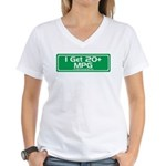 20 MPG Gear Women's V-Neck T-Shirt