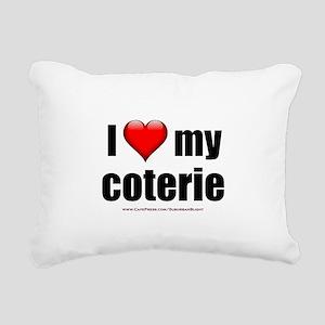 """""""Love My Coterie"""" Rectangular Canvas Pillow"""