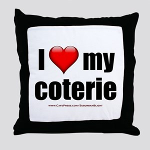 """Love My Coterie"" Throw Pillow"