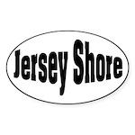 Jersey Shore Oval Sticker