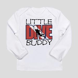 little dive buddy scuba diving Long Sleeve T-Shirt