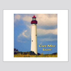 Cape May Light Watercolor Small Poster
