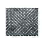 Gray Diamond Plate Pattern Throw Blanket