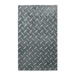 Gray Diamond Plate Pattern 3'x5' Area Rug