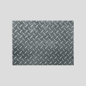 Gray Diamond Plate Pattern 5'x7'Area Rug