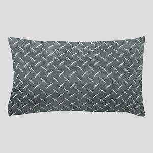 Gray Diamond Plate Pattern Pillow Case