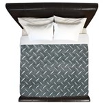 Gray Diamond Plate Pattern King Duvet
