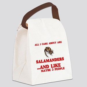 All I care about are Salamanders Canvas Lunch Bag