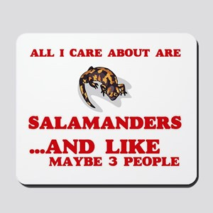 All I care about are Salamanders Mousepad