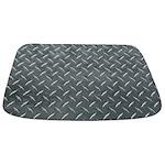 Gray Diamond Plate Pattern Bathmat
