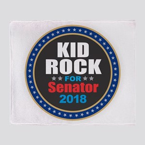 Kid Rock for Senator 2018 Throw Blanket