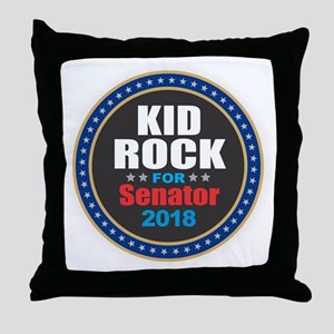 Kid Rock for Senator 2018 Throw Pillow