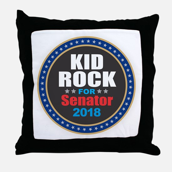 Kid Rock for Senator 2018 Throw Pillow