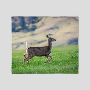 Running Deer Throw Blanket