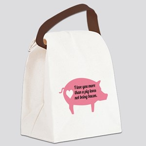 Pig Bacon Canvas Lunch Bag