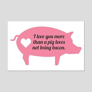 Pig Bacon Mini Poster Print