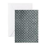 Gray Diamond Plate Pattern Greeting Cards (Pk of 1