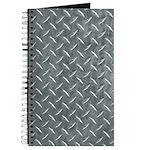 Gray Diamond Plate Pattern Journal
