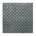 Gray Diamond Plate Pattern Tile Coaster