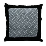Gray Diamond Plate Pattern Throw Pillow
