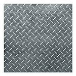 Gray Diamond Plate Pattern Square Car Magnet 3