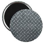 Gray Diamond Plate Pattern Magnet
