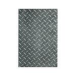 Gray Diamond Plate Pattern Rectangle Magnet