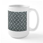 Gray Diamond Plate Pattern Large Mug