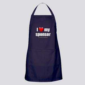 """Love My Sponsor"" Apron (dark)"