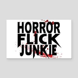 Horror Flick Junkie Rectangle Car Magnet
