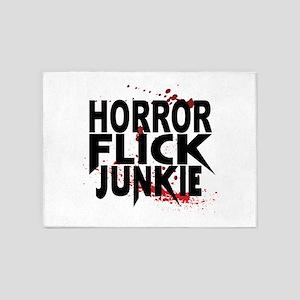 Horror Flick Junkie 5'x7'Area Rug